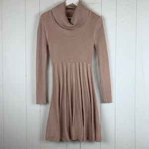 Calvin Klein Dress Small Cowl Neck Pleated
